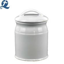 Tanques de almacenamiento lisos de cerámica de un solo color de encargo simple al por mayor