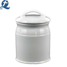 Wholesale Custom Simple Single Color Ceramic Smooth Storage Tanks