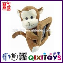 Marco de foto de mono de peluche personalizado personalizado