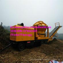 Máquina trituradora de madera Trituradora diesel del triturador Trituradora móvil de la rama