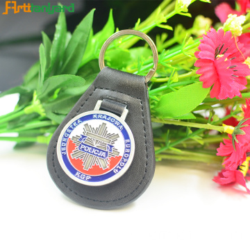 Customer Design Leather Keychain com Stamping