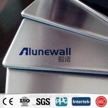 Alunewall haute qualité en acier inoxydable / aluminium composite panneau de revêtement de douche avec le meilleur prix
