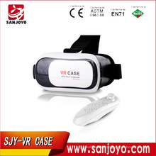3d Video Game VR Virtual Reality Glasses Case Headset 3.0 with Bluetooth RC Adjustable Focal Pupil Distance for 4.5 inch screen