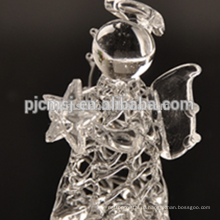 чистый Хрустальный ангел ,стеклянные рисунок ангел для подарков