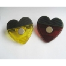 Heart Shaped Plastic Magnetic Clip