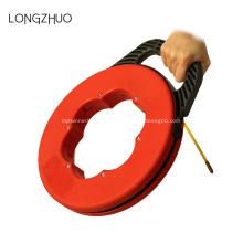 Puxador de carretel de cabo de fios de cabo de eletricista extrator de mão de aço