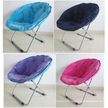Metal Cotton Canvas Folding Moon Chair,Leisure Chair
