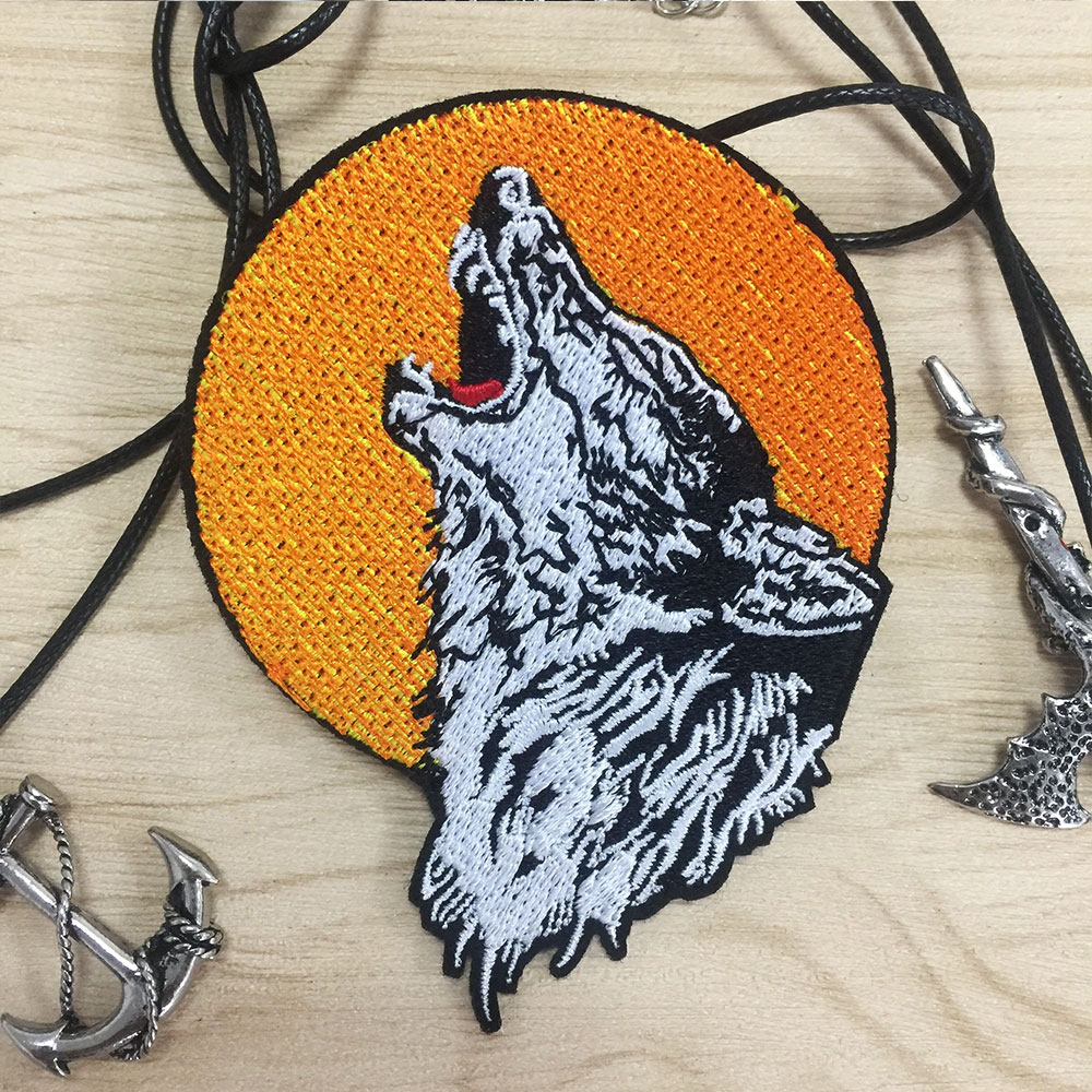 Motorcycle Embroidery Badge