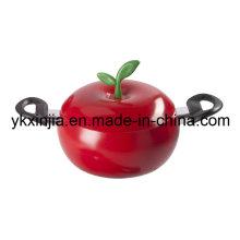 Utensílios de cozinha Revestimento antiaderente de alumínio Pote de molho de maçã vermelha