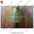 Green simple and comfortable girls dress