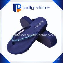 New Navy Blue Flip Flop Thong Soft Strap Med Heel