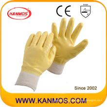 Противоскользящие нитриловые трикотажные перчатки с защитной перчаткой (53007)