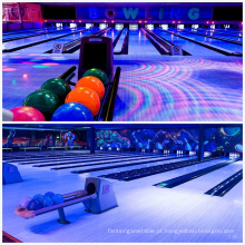 Full Glow-in-Dark Bowling Alley para Centro de Bowling moderno