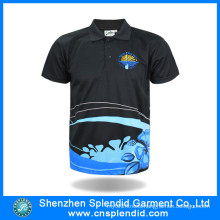 China Wholesale Men Clothes Black Polyester Polo T Shirt