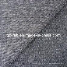 De buena calidad Algodón / poli / tela de lino / spandex Denim (QF13-0732)