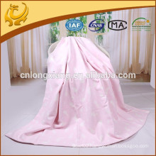 chinese factory cotton brushed jacquard baby blanket