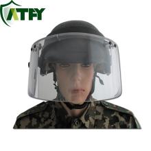 Ballistic helmet with face shield visor