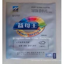 Plastikhaustier-Behandlungs-Beutel mit silbernem Druck