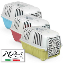 Plastic pet travelling cage dog+cat carrier cages