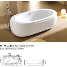 Baignoire autoportante de baignoire de débordement Wtm-02103