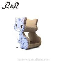 Scratcher em forma de fábrica reciclado papelão ondulado Cat Lounge CS-6002