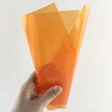 2020 Hot Selling A4 Size Rigid Orange PP Plastic Binding Cover Sheet