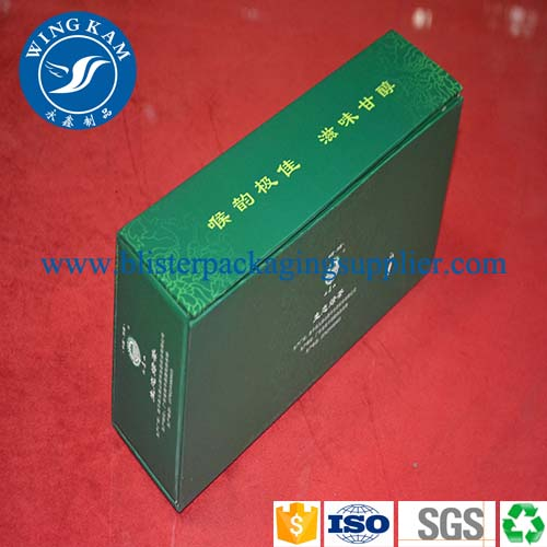 Rectangle Green Tea Cardboard Box Packaging,,