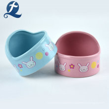Factory Heart Shaped Hamster Ceramic Pet Bowls