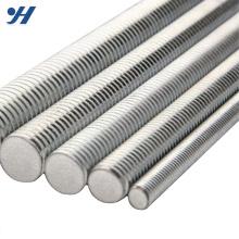 Resistência à tração de zinco elétrico haste rosqueada de aço inoxidável, haste rosqueada galvanizada, haste rosqueada trapezoidalmente