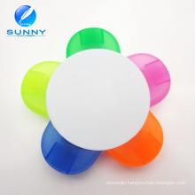 5 in 1 Flower Shape Plastic Highlighter Marker for Promotion Gifts
