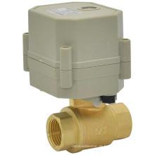 Pflanze Direktverkauf RoHS Elektrisches Steuerwasser-Ventil 2 Wege Motorisiertes Messing-Kugelventil (T15-B2-C)