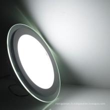 SMD2835 dimmable blanc chaud blanc naturel blanc froid verre ultra-mince led plafonnier encastré lumière