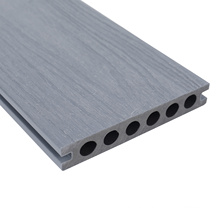 China Factory Outdoor Wood Plastic Composite Decking 140*23mm Hollow Co-Extrusion Flooring