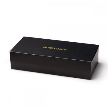 Magnetic Black Rigid Gift box Dengan Divider