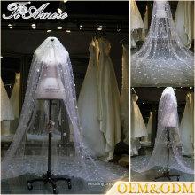 Brautabnutzungsqualitäts langer Brauthochzeitsschleier neuer Entwurf