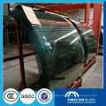 large size bent tempered glass for building