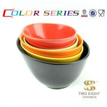 Fancy ceramic soup bowl Black ceramic bowl japanese noodle bowl