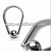 ¡¡¡Promoción!!! Bola de acero anillo de pezón círculo masculino