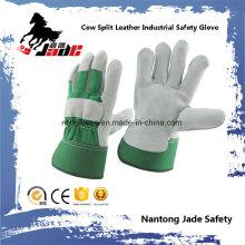 Green Industrial Safety Kuh Split Leder Arbeitshandschuh