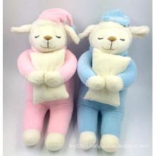 La felpa suave encantadora al por mayor más linda de la alta calidad juega los juguetes de la felpa del bebé de las ovejas hechas fábrica