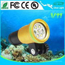 Golden Color Body 100m Tauchen Unterwasser Foto / Video Licht