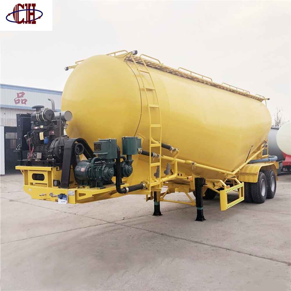 2 Axles Bulk Cement Tank trailer