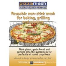 PTFE Manga de pizza antiaderente preto