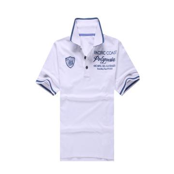 100% Baumwolle weißes Golf Pique Polo Shirt