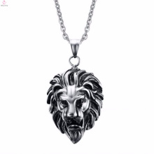 Lion Head Skull Chain Stainless Steel Necklace Jewelry Pendant