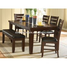 wooden restaurant table set for 6 person XYN1494