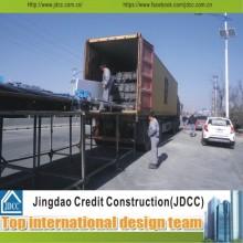 Installation facile et transport de cadres en acier