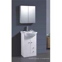 ПВХ Белый Покрашенный шкаф ванной комнаты (Б-1317)