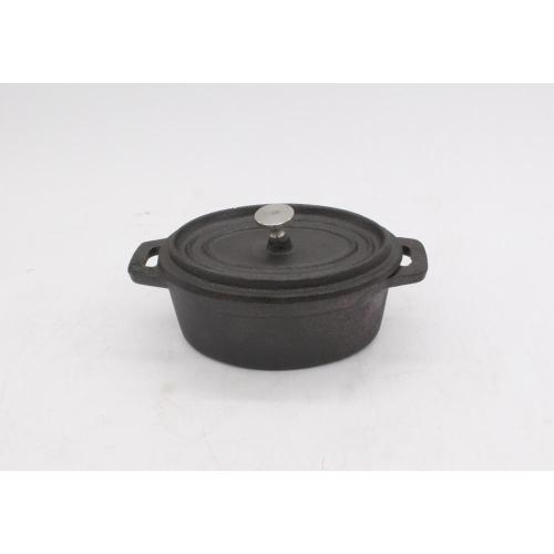 mini panela oval de ferro fundido