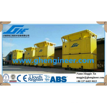 movable grain fertilizer bagging and weighing machinery